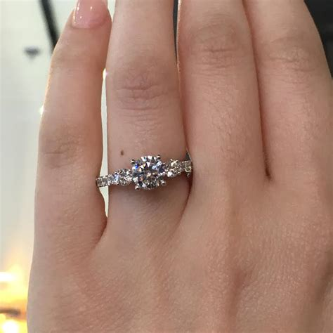 tacori engagement rings clean crescent setting