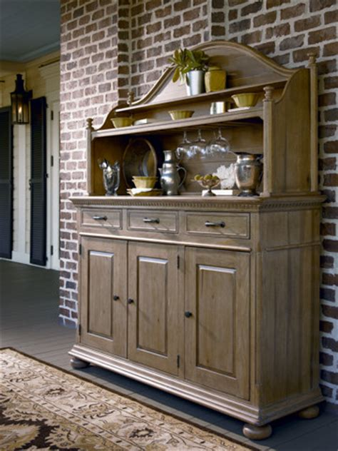 Kitchen Credenza - paula deen credenza and hutch in oatmeal traditional