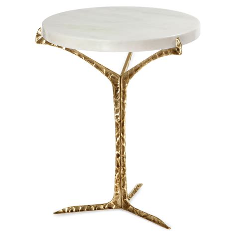 marble and brass side table marble side table brass alentejo swanky interiors