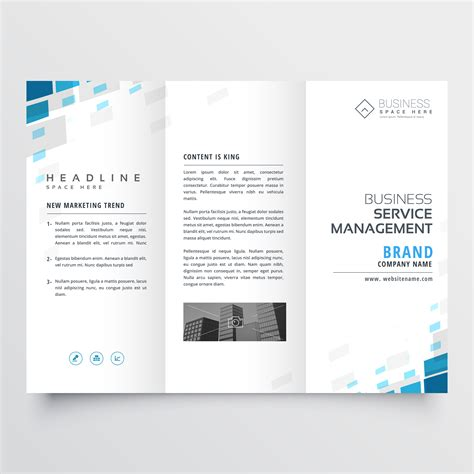 Brochure Template Design Simple Trifold Business Brochure Template Design