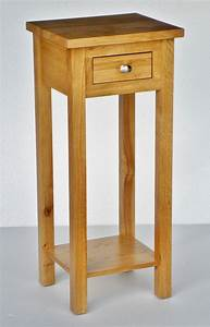 New solid oak lamp telephone console table plant stand ebay for Telephone console table