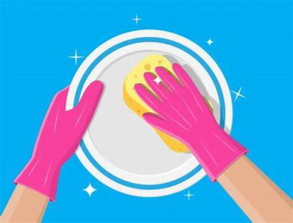 Wash Hand Washing Dishes Plate Sponge Cleaning