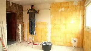 plafonner un mur youtube With repeindre un mur crepi interieur