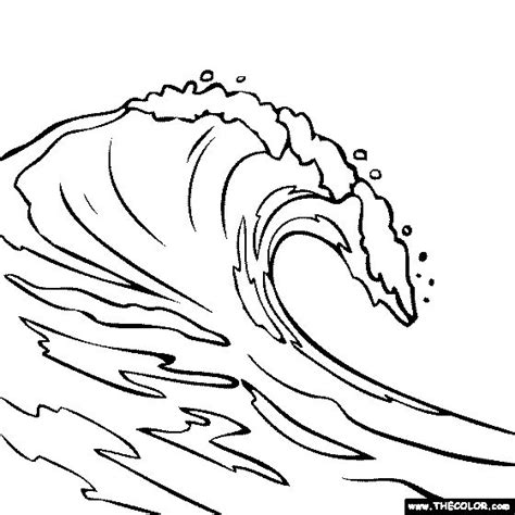 HD wallpapers waves coloring pages