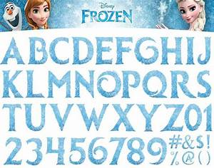 Frozen Disney Clipart Letters Alphabet Numbers Transparent