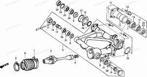 Honda Atv 1985 Oem Parts Diagram For Swingarm    Propeller Shaft