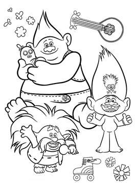 kids  funcom  coloring pages  trolls world