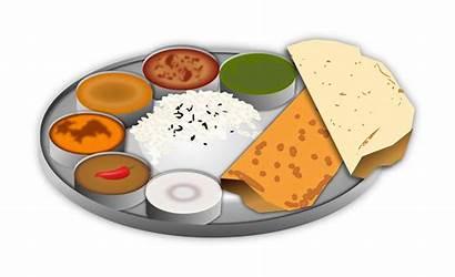 Dinner Clipart Meal Plate Transparent Indian Webstockreview