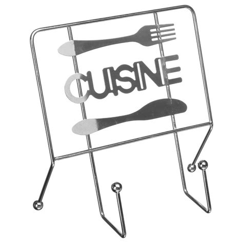 support livre de cuisine support de livre quot cuisine quot 22cm argent