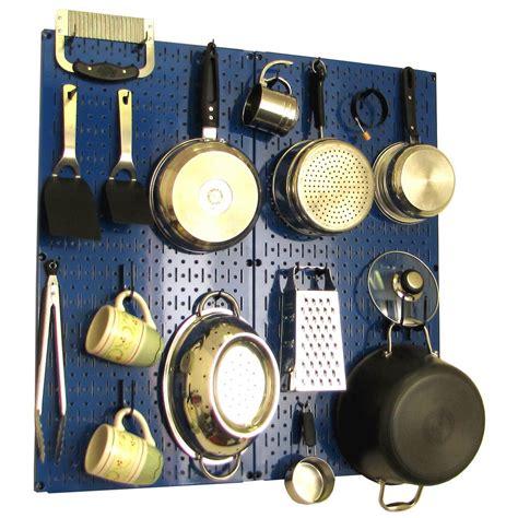 pegboard kitchen storage pans pots pantry organizer metal kit