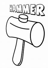 Hammer Coloring Pages sketch template