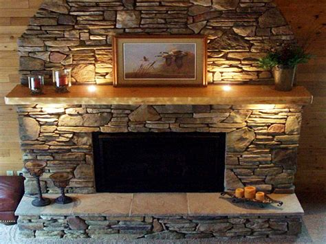 Stacked Slate Fireplace Surround Fireplace Designs