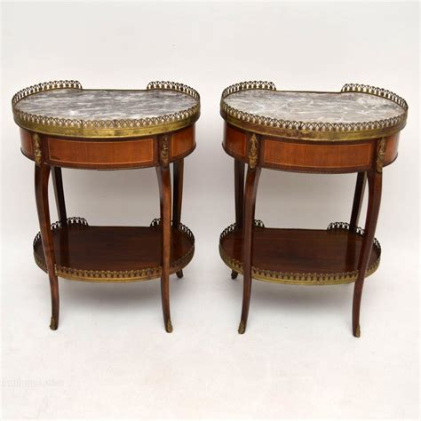 antique marble top side table pair of antique french marble top side tables antiques atlas