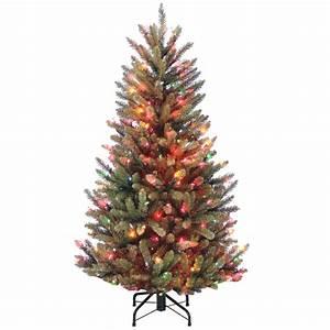 4, 5, U0026, 39, Pre-lit, Natural, Fraser, Fir, Artificial, Christmas, Tree, U2013, Multi-color, Lights
