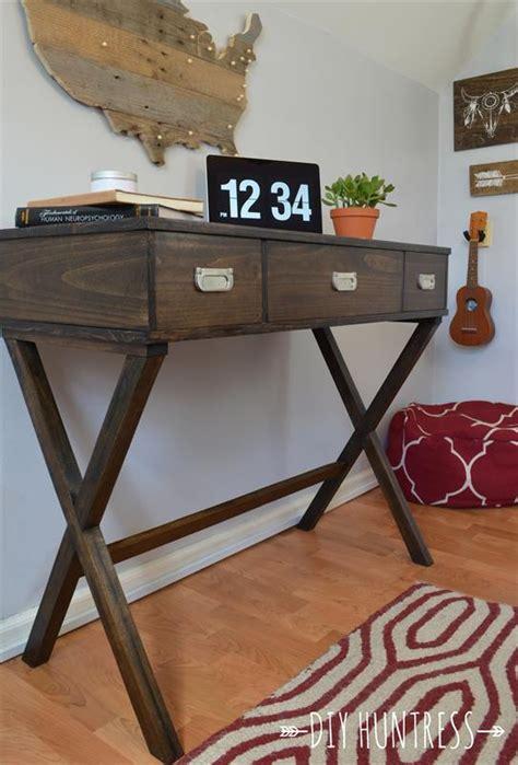diy  leg desk  drawers buildsomethingcom