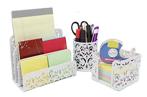 cute desk organizer set awardpedia white desk letter holder