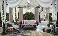 fine patio gazebo design ideas White gazebo decking area | Interior Design Ideas.