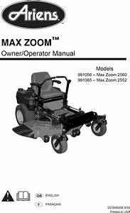 Ariens 991056 User Manual Zero Turn Mower Manuals And