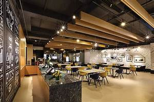 Trendy Theme A Cafe Featuring Open Spaces With