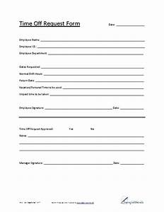 Printable Time f Request Form to Pin on