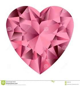 Pink Gemstone Heart Clip Art