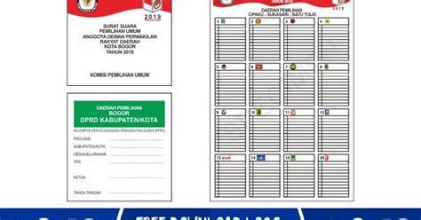 Contoh Surat Suara Pemilu 2019 Dprd Kabupaten Kumpulan