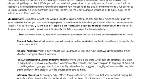 project proposal time management plan  visual communication guy
