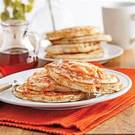 cuisine recettes pratiques pancakes au bacon et cheddar recettes cuisine et