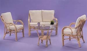 Salon En Rotin : salon rotin saigon naturel table fauteuils canap ~ Teatrodelosmanantiales.com Idées de Décoration