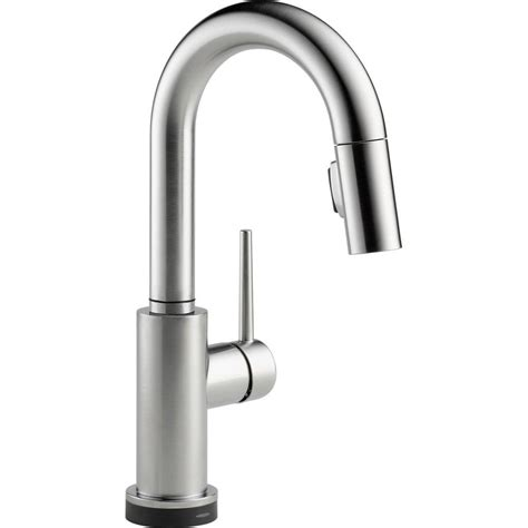 Nickel Faucets Kitchen by Delta Brushed Nickel Pull Kitchen Faucet