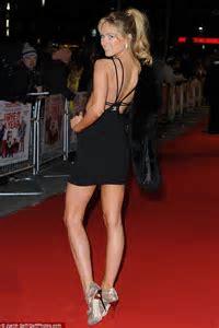 Made In Chelsea Kimberley Garner wears slinky black dress