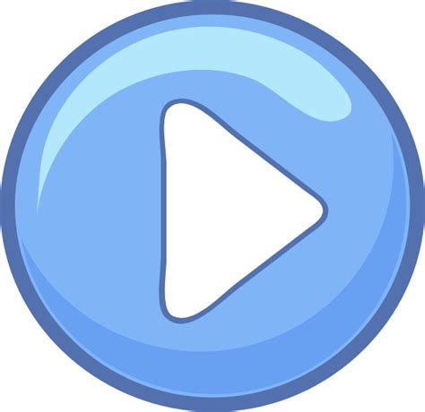 3d play button png blue play button clip at clker vector clip