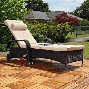 Chaise Resine Tressee : chaise longue de transat relax jardin fauteuil ~ Nature-et-papiers.com Idées de Décoration