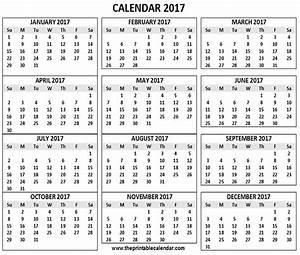 2017 Desk Calendar Printable | Printable Calendar 2017