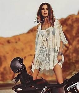 Style Bohème Chic Femme : tunique ajouree dentelle plage boho boheme chic ~ Preciouscoupons.com Idées de Décoration