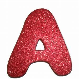 Glitter Foam Letter A Red