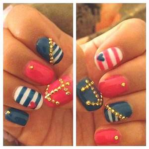 1000+ images about Cute Sailor Nails on Pinterest | Nail ...