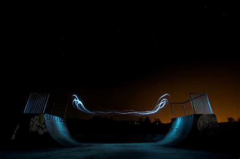 ben matthews skate park light graffiti