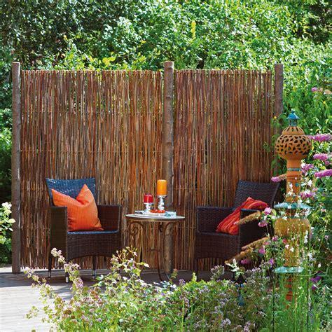 Garten Sichtschutz Weide by Garten Sichtschutzelemente Aus Weide