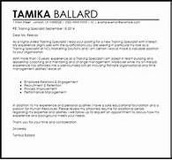 Training Specialist Cover Letter Sample LiveCareer General Manager Resume Examples Operations Manager Resume Examples Examples O Sample Resume And Cover Letter For Administrative Assistant Specialist Job Wining Cover Letter Sample For Sales Job Position