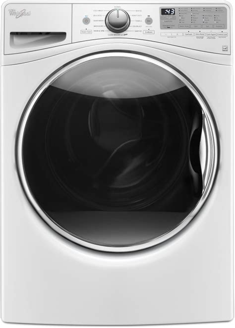 whirlpool wfwfw    cu ft front load washer  adaptive wash technology steam