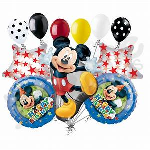 Happy Birthday Mickey Mouse : 11 pc mickey mouse full body balloon bouquet party decoration happy birthday ebay ~ A.2002-acura-tl-radio.info Haus und Dekorationen