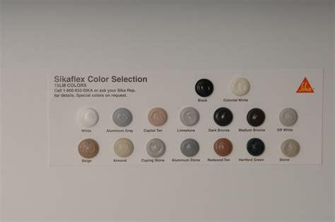 Sika Color Charts   Coastal Construction Products