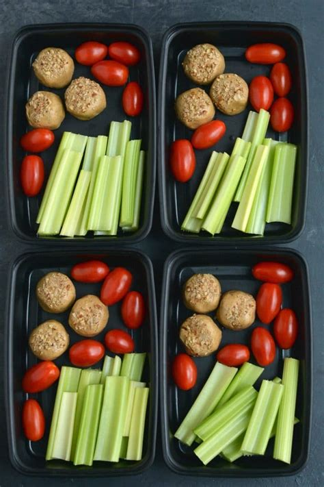 Meal Prep Protein Bite Snack Box {Vegan, Low Carb