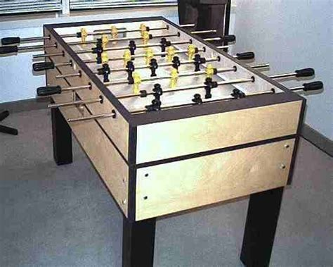 build  foosball table   table game room decor