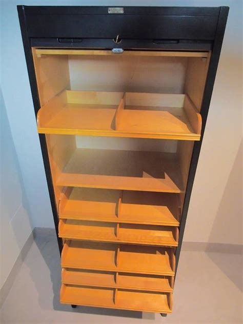 mid century file cabinet tall mid century swedish roll front file cabinet for sale