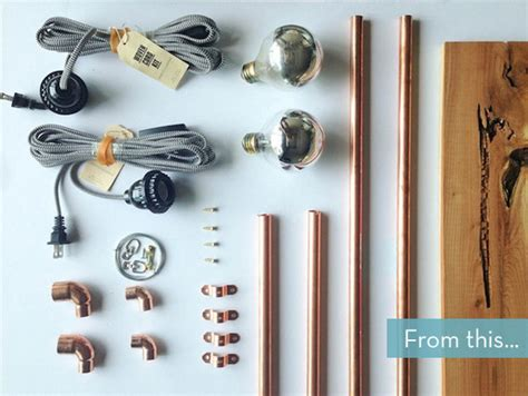 how to easy diy copper pipe wall sconce curbly