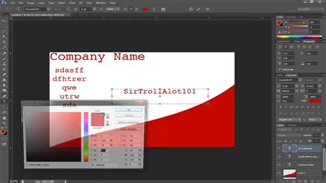 how to make a card template in photoshop simple tutorials photoshop cs6 a buisness card