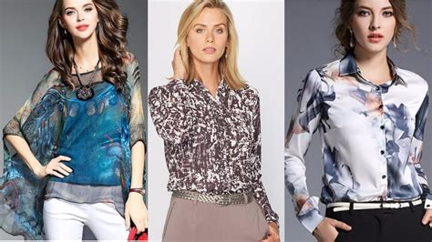 moda tendencias 2018 blusas de seda youtube