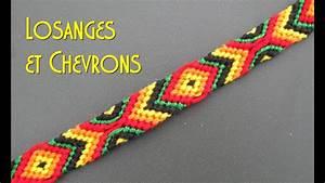 tuto bracelet brésilien losanges et chevrons intermé